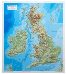 British Isles Raised Relief Map - Light Frame